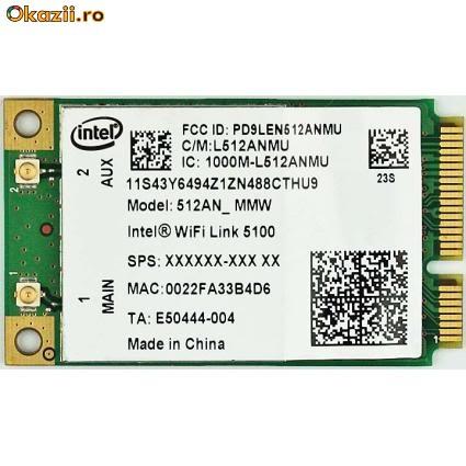 Placa retea laptop 512AN_MMW Intel WiFi Link 5100 a/b/g/Draft-N