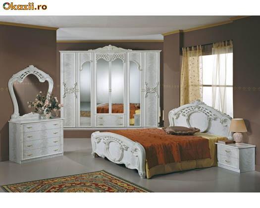 Mobila dormitor Italia lacuita si lucioasa foto mare