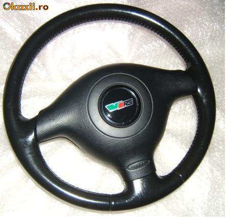 Volan piele+airbag SKODA Octavia 1 , Fabia 1 VRS 01-09 foto mare