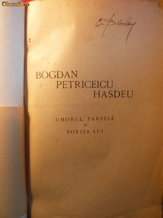 Barbu Lazareanu - UMORUL LUI HASDEU - cca.1927 foto mare