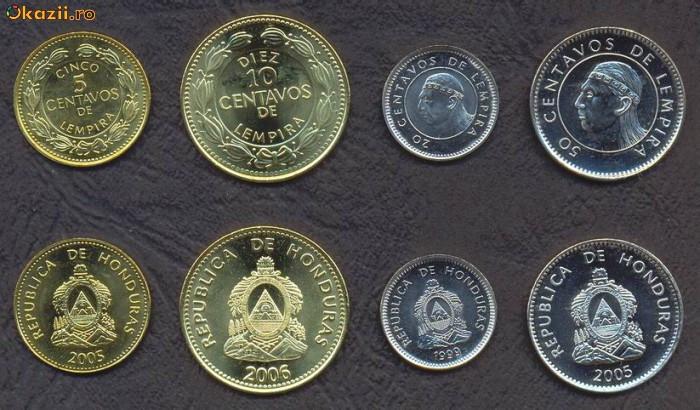 HONDURAS █ SET DE MONEDE █ 5, 10, 20, 50 Centavos █ 2014 █ UNC
