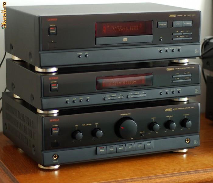 Linie Luxman, Amplif. A-215, CD-player D-225, Tuner T-235 foto mare