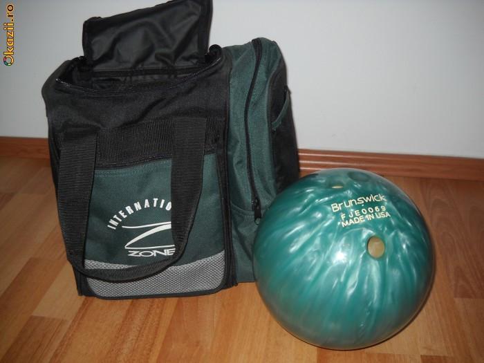 Bila bowling Brunswick 12 lb + Geanta Inter Zone foto mare