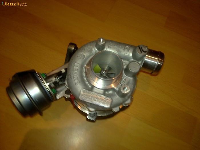 turbina turbosuflanta GT1749V  AUDI A4,A6, SKODA Superb, VW Passat 1.9 TDI 101,110,116 CP foto mare