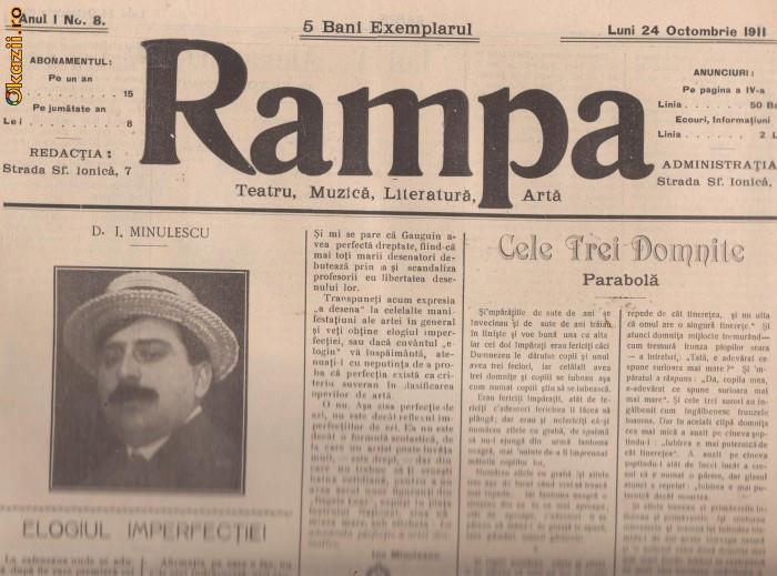 16 reviste RAMPA - teatru,muzica,literatura (1911-1912,Bucuresti)