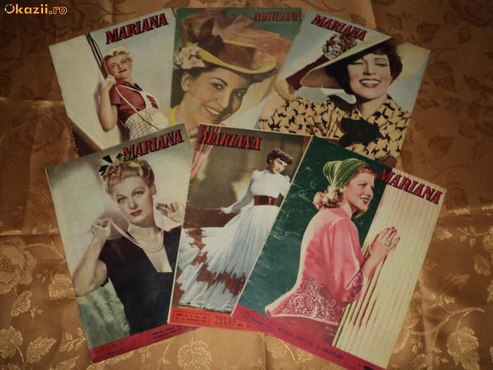 COLECTIE VECHE - REVISTE DE MODA - REVISTA MARIANA - ANII 1942 - 1947