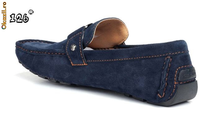 mocasini , scarpi de piele intoarsa Louis Vuitton L.V foto mare