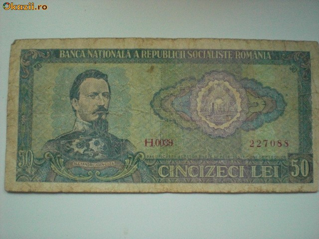 Bancnota 50 lei - 1966 foto mare