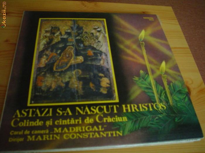 Madrigal Astazi s-a nascut Hristos muzica corala colinde sarbatori disc vinyl lp