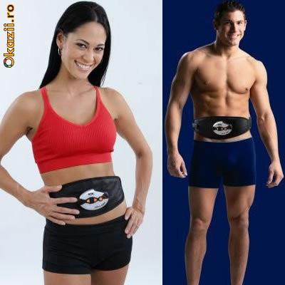 """Centura cu impulsuri electrice """" ABS & CORE"""" pentru brate,abdomen,coapse foto mare"""