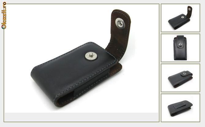 toc din piele ecologica Iphone 4 prindere curea