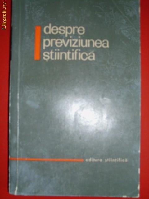 Despre  Previziunea Stiintifica - Acad. D. Dumitrescu, U. Tomin