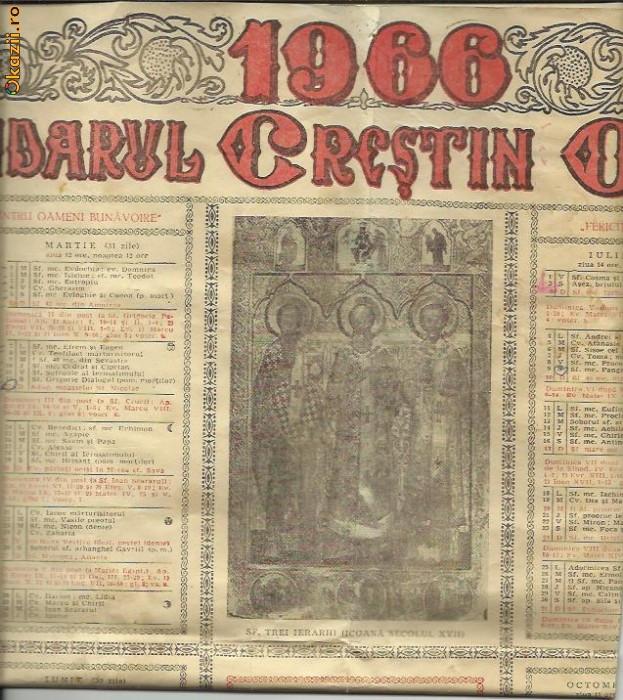 Calendar Crestin Ortodox.Calendar Crestin Ortodox 1966 Arhiva Okazii Ro