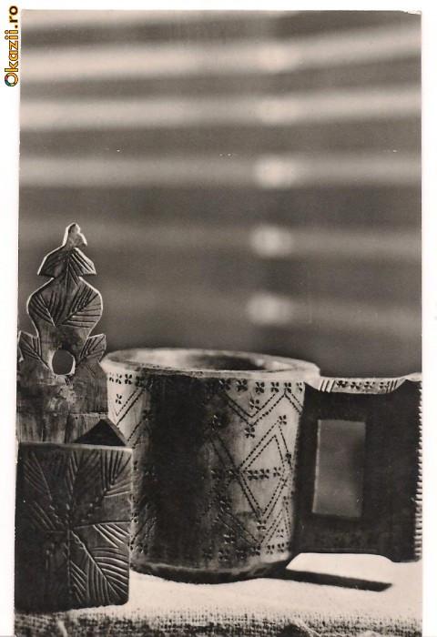 carte postala-Cupa si sararita din reg Maramures