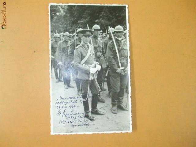 Carte Postala Depunerea Juramantului Calarasi 1936 foto mare