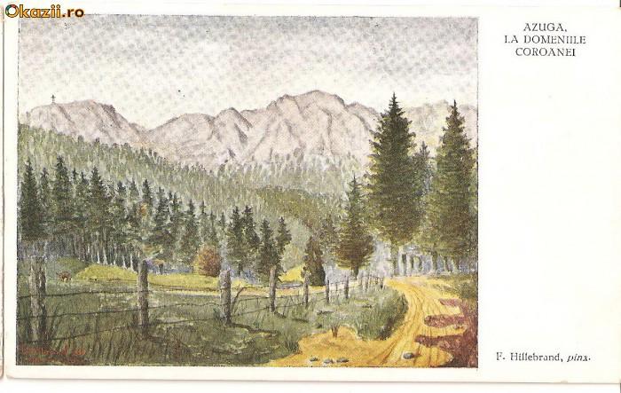 CPI (B242) AZUGA, LA DOMENIILE COROANEI, F. HILLEBRAND, NECIRCULATA.