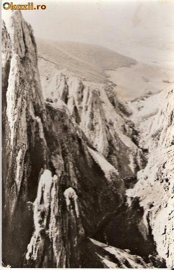 CP203-99 Muntii Apuseni. Cheile Turzii -carte postala, circulata 1970 -starea care se vede