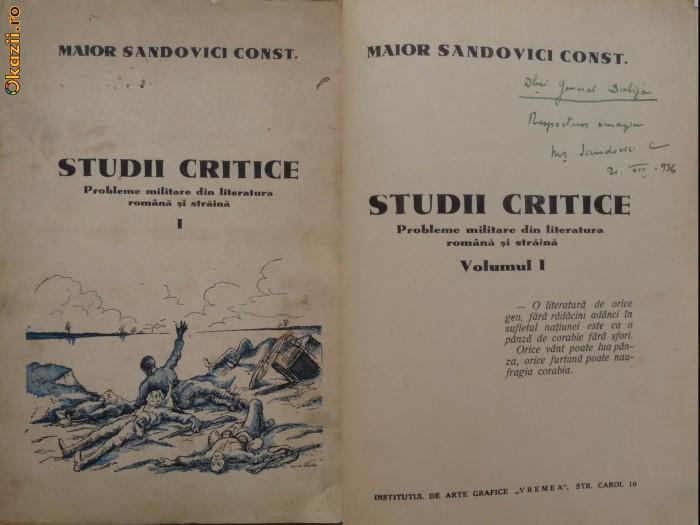 Sandovici , Studii critice , Probleme militare din lit. romana si straina , 1936
