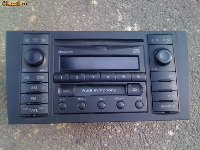 vand radio casetofon plus cd pentru audi A2,A3,A4,A6,A8 audi symphony original!!! decodat!! foto mare