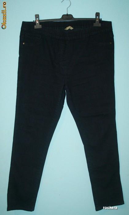 Blugi lungi marimea 50 - 52 - 54 - 56, negri, elastici, skinny, pana FRUMOSI / blugi elastici marime mare / blugi pentru cizme foto mare