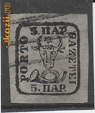 TIMBRE ROMANIA Proba 5P Moldova Cap de bour RO86