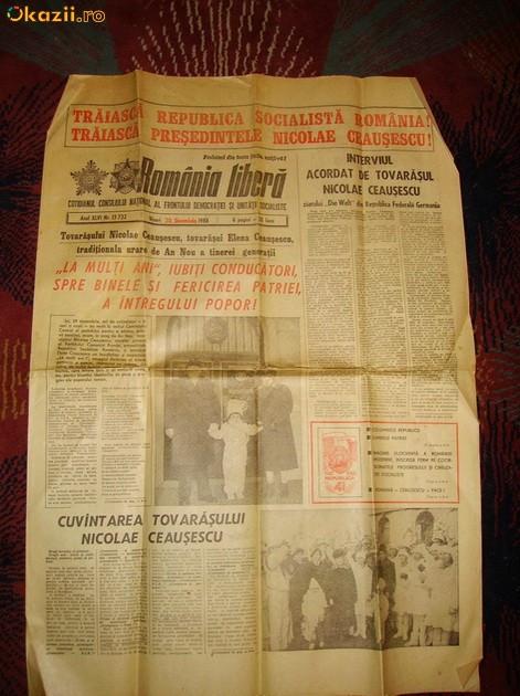 ROMANIA LIBERA 30 DEC 1988