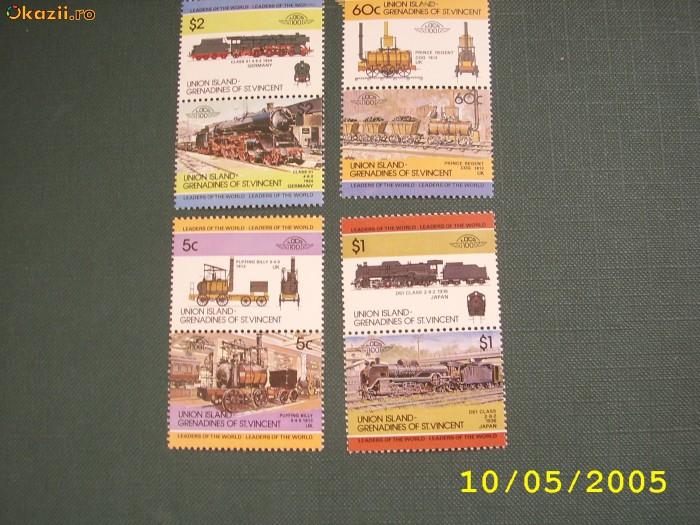Union Islands Grenadines  1984  Trenuri    MI 13-20