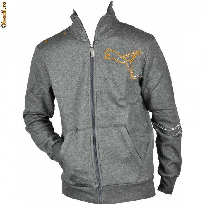 Hanorac barbati Puma Graphic Sweat JKT Fleece 81395107-5650 Marime XL foto mare