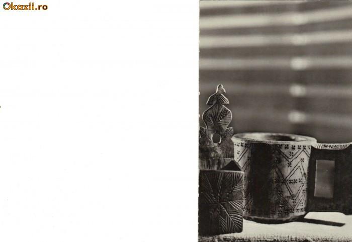Ilustrata folclor - Cupa si sararita din regiunea Maramures