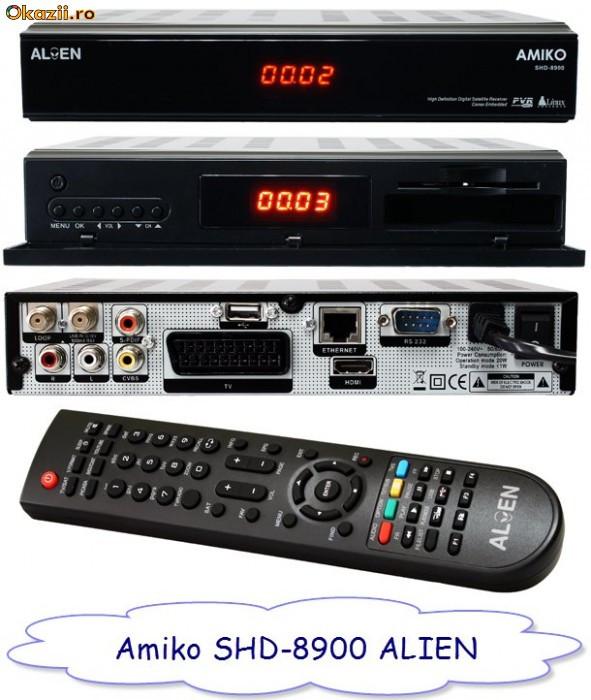 Receptor satelit HD linux, mediaplayer, browser Opera,  Amiko Alien 8900 foto mare