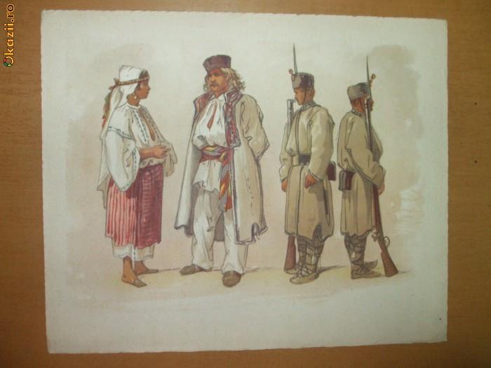 Preziosi Planșă color Tipuri bucureștene, Bucureștii în 1869