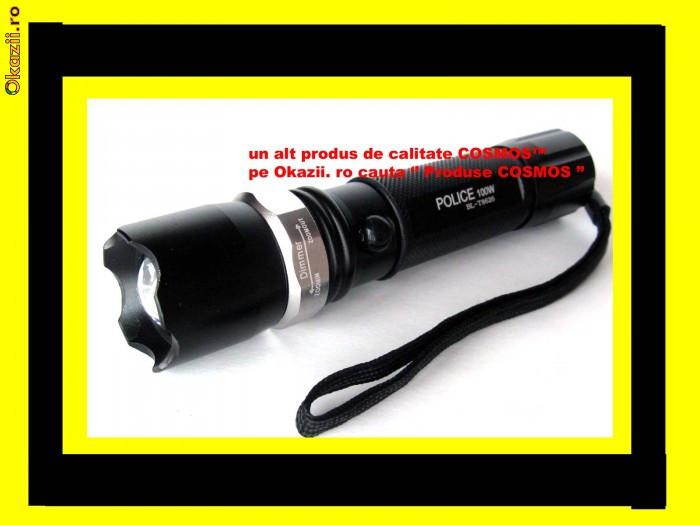 LANTERNA Profesionala POWER STYLE POLICE cu ACUMULATOR Lupa Zoom CREE LED LUXEON 100% 100w pentru Vanatoare Pescuit Militara camping sport timisoar foto mare