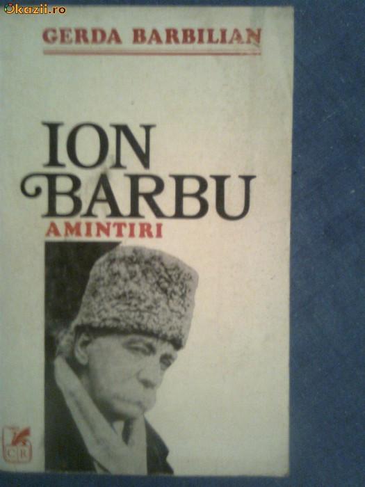 Ion Barbu Amintiri-Gerga Barbilian