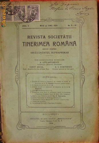 Revista Societatii Tinerimea  Romana - revista lunara
