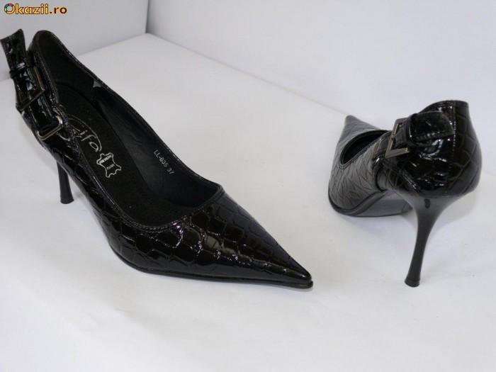 Pantofi femei , eleganti ,negrii (CIFA57 LL835 black)  REDUCERE EXCEPTIONALA DE PRET