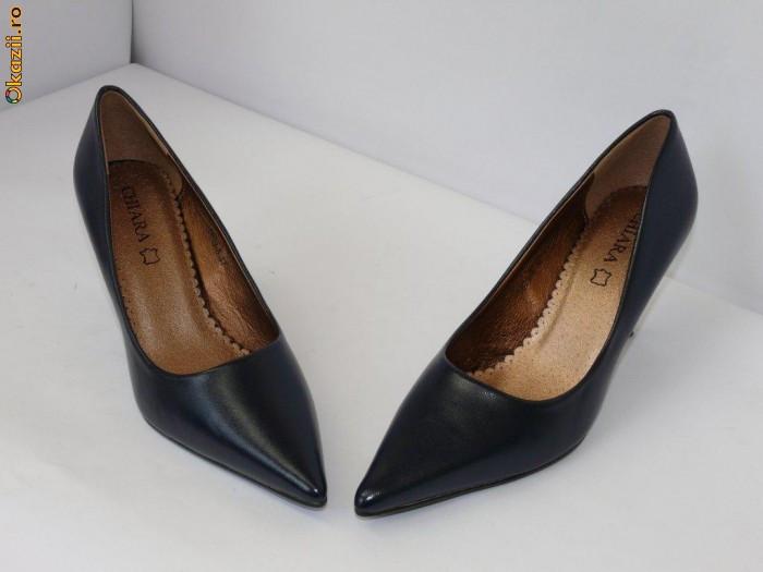 SOLDURI - Pantofi bleumarin  - (CHIARA 5629-8 blue)