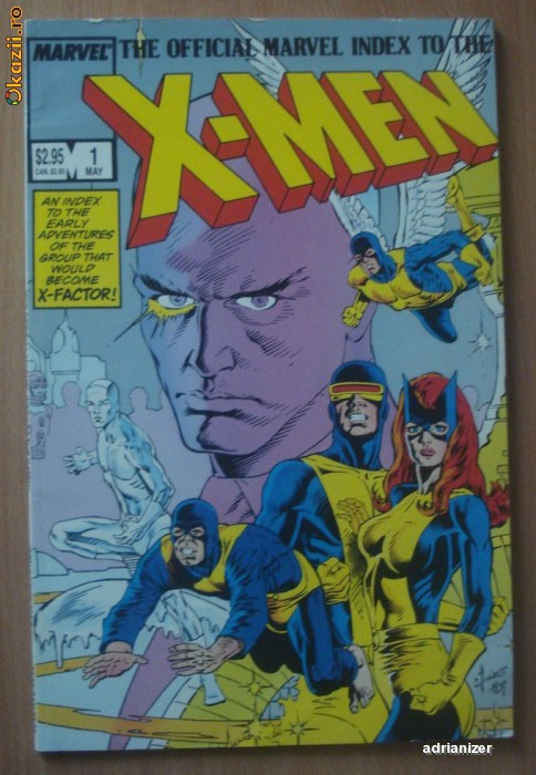 X-Men Index #1 . Marvel Comics foto mare