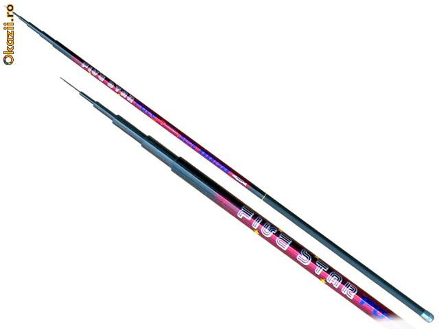 Undita fibra de carbon Five Star 7m foarte usoara - Greutate: 290g. foto mare