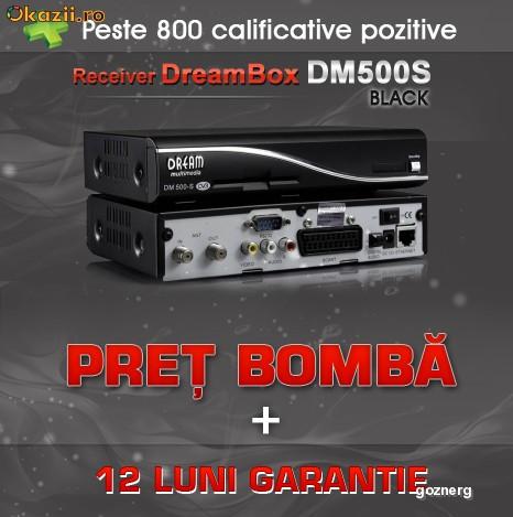 Dreambox DM500S DM 500 DM500 All Black *Super Oferta!! 12Luni Garantie + Sharing 30 zile GRATUITE!!! foto mare