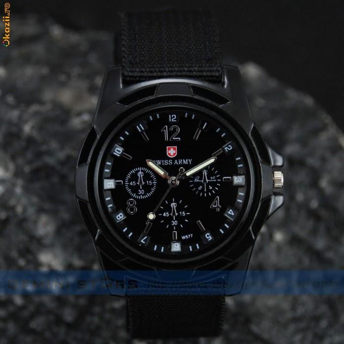 Ceas negru Military Army Pilot