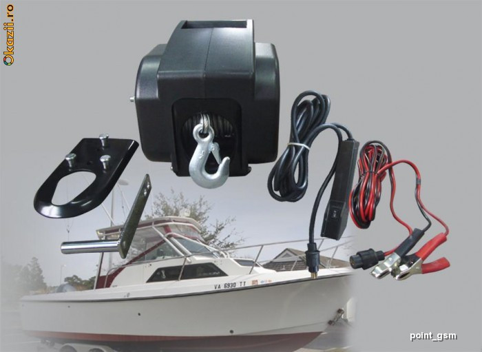 Troliu electric si manual  barca,4x4, off road 3000lbs foto mare