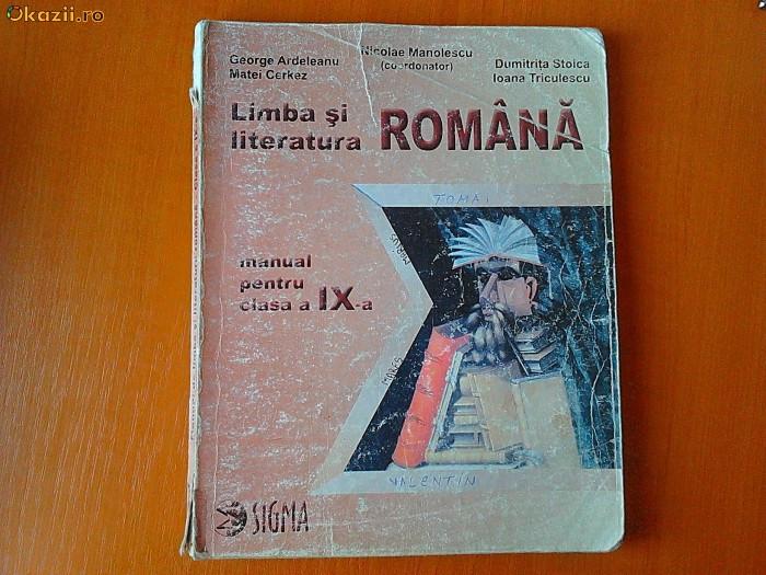 Manual Limba si literatura romana cls a IX-a foto mare