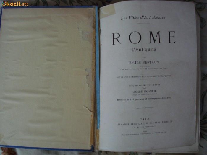 Bertaux - Les villes d'art - Rome de L'Antiquite a nos jours Roma istoria artei
