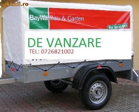 Vand remorca auto noua 750 kg cu prelata adusa din Germania foto mare