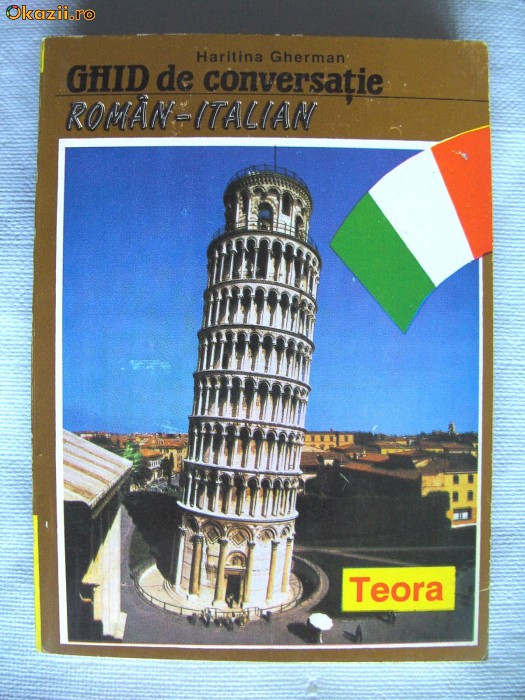 """GHID DE CONVERSATIE ROMAN - ITALIAN"", Haritina Gherman, 1994 foto mare"
