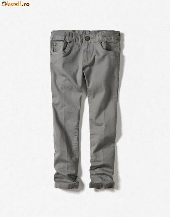 ZARA pantaloni blugi 2/3 ani, pe rosu si pe gri si 5/6 ani pe crem foto mare