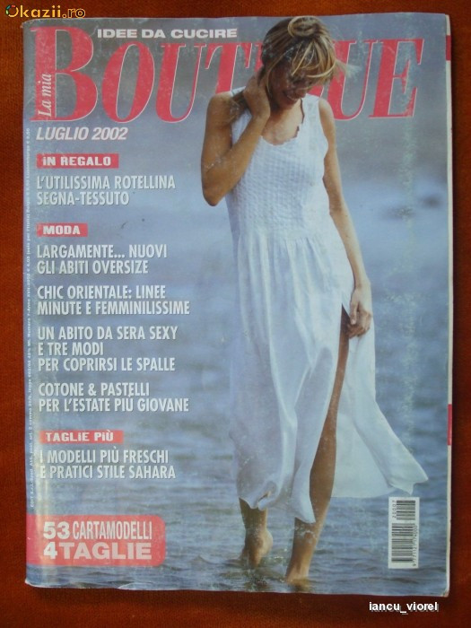 REVISTA DE MODA '' BOUTIQUE '' NR. IULIE  2002  CU TIPARE foto mare