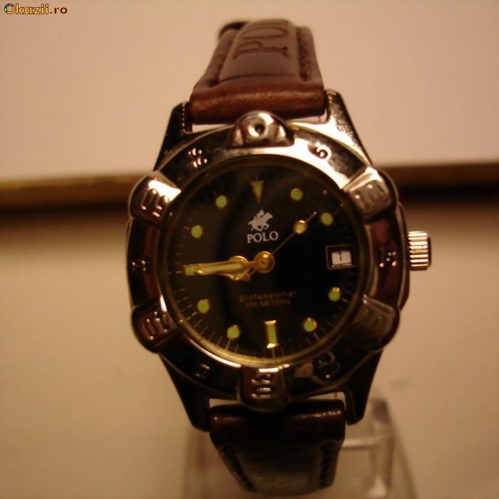 Ceas Polo - curea piele | ceasuri, ceasuri mana, ceasuri barbatesti, ceasuri dama, ceasuri ieftine, ceasuri replica, preturi ceasuri, vand ceasuri foto mare