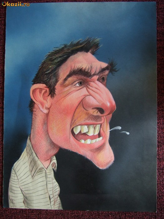 Caricatura - Stefan Popa Popas - Eric Cantona - Okazie! foto mare