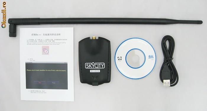Adaptor wireless, 9 dBi antena, chipset Ralink, de mare putere! INTERNET MOKA! foto mare